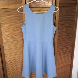 H&M Light Blue Skater Dress